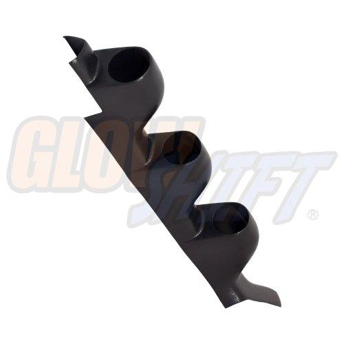 GlowShift Black Triple Pillar Gauge Pod for 1990-1994 Mitsubishi Eclipse - ABS Plastic - Mounts (3) 2-1/16