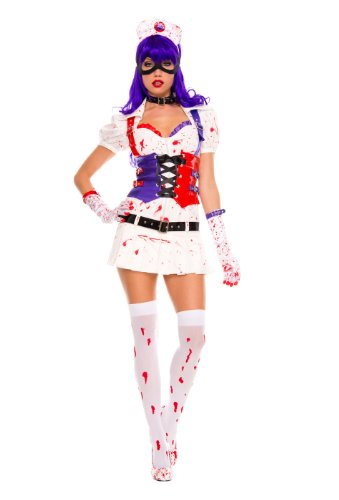 Hot Harley Quinn Costumes (Hot Mess Harley Adult Costume - Small/Medium)