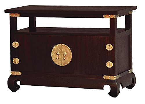 NES Furniture Nes Fine Handcrafted Furniture Solid Mahogany Wood Ming TV Stand - 38