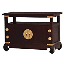 "NES Furniture can10212 Fine Handcrafted Solid Mahogany Wood Ming TV Stand, 38"", Chocolate"