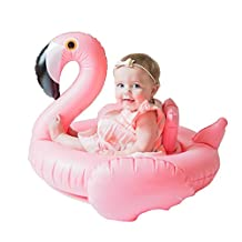 Inflatable Float Swimming Aids Pool Flamingo Swim Ring Pink Bird Floaties Seat Boat Raft Summer Play Lounger Beach Toys for Baby Kids
