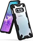 Ringke Fusion-X Designed for Galaxy S10e (5.8') Case, Built in Dot Matrix Rear PC Anti-Cling Renovated Bumper [Military Drop Tested Defense] Double Protection Cover for Galaxy S10e (2019) - Black