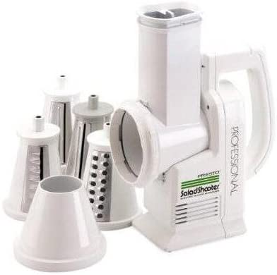 Presto Professional SaladShooter Electric Food Slicer – 114 W – White