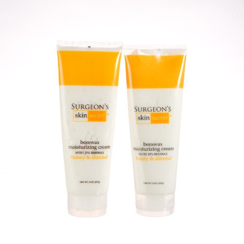 Price comparison product image 25% Beeswax Cream 8oz Squeeze Tube - Honey Almond - 2 Packs