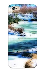OBA140dyYsO Tpu Case Skin Protector For Iphone 6 Plus Frozen River With Nice Appearance For Lovers Gifts