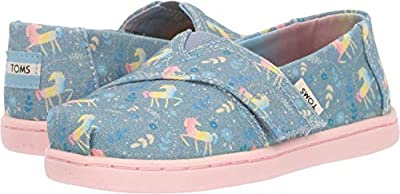 TOMS Kids Baby Girl's Alpargata (Toddler/Little Kid) Frost Rainbow Unicorns 5 M US Toddler