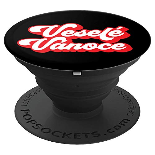 Merry Christmas | Czechia Translation | Veselé Vánoce PopSockets Grip and Stand for Phones and Tablets (Translation Merry Christmas)