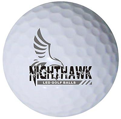 3 Nighthawk Glow In Dark LED Light Up Golf Balls Super Bright Night Golf Fun, Choose Your Colors, Red, White, Blue, Green, Orange