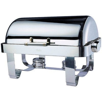 """""""Save on Additional Items""""-Odin Oblong Roll Top Chafing Dish with Stainless Steel Legs, Heater and Spoon Holder"""