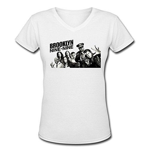 Women Brooklyn Nine-Nine TV Series Logo Poster V Neck T-shirt 100% Cotton
