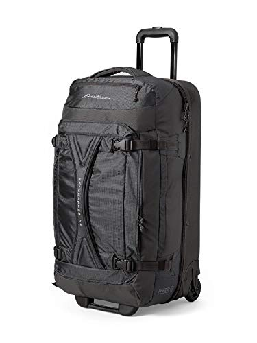 Eddie Bauer Unisex-Adult Expedition Drop-Bottom Rolling Duffel - Large, Black Re Ballistic Nylon Luggage Sets