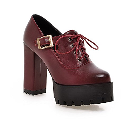 Shoes Red Leather BalaMasa Girls Pumps Imitated Buckle Solid P7SYzq8
