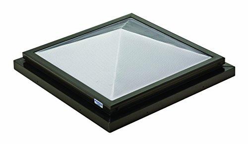 Sunoptics SUN R2020 PYL TGZ 50CC2 800MD BZ  2-Feet by 2-Feet Triple Glazed Fixed Curb-Mounted Prismatic Pyramid Skylight, ()