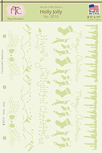 Icicle Border - Fairytale Creations Holly Jolly Stencil, 8-1/2