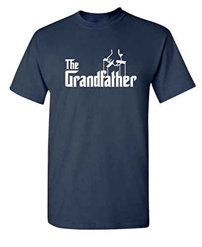 The Grandfather Gift for Dad Fathers Day Mens Novelty T Shirt M Navy