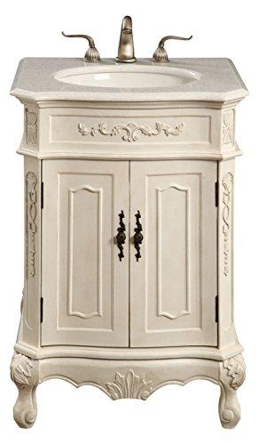 Elegant Decor VF-1006 Single Bathroom Vanity Set, 24', Antique White/VF-1006