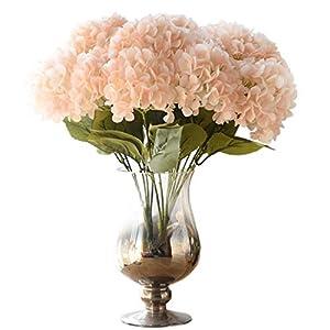 Acdream 5-Heads 4-Bouquet Artificial Hydrangea Flower Home Wedding Decoration Silk Fake Hydrangea 17