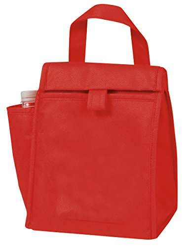 Eunichara eGreen Lunch Bag w/Bottle Pocket 90G Non Woven Polypropylene - (Non Woven Bottle)
