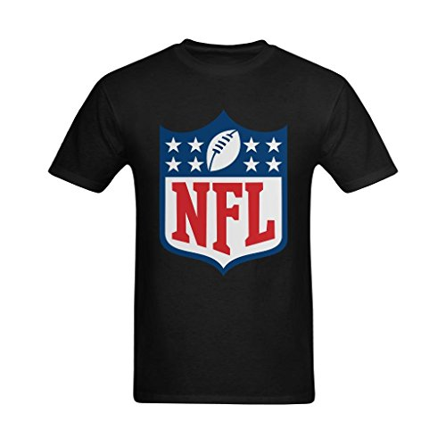 Welvga Men's NFL Network Shield Logo Fashionable Tshirt Small