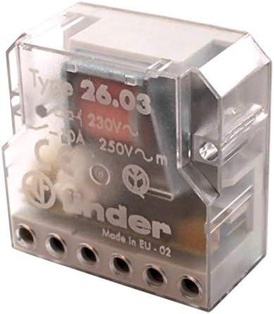 3 sequenze 10 A Teleruttore per scatola 230 Vac 2 NO Finder 260682300000