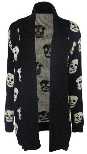 Traje de neopreno para mujer diseño de impresión Boyfriend chaqueta de punto diseño de calavera negro