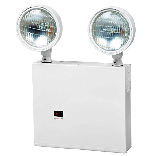FireHorse NYC Emergency Light - 2 Adjustable Lamp Heads - 18W Approved for use in New York City - Remote Mounting - Fulham FHNY-1029-W