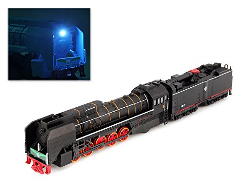 DS.DISTINCTIVE STYLE Ace Select 1:87 Alloy Steam Locomotive Traction Engine Trains Toy Model with Music Light - Black