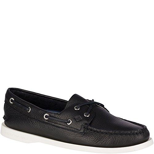 Sperry Top-Sider Women's a/O 2-Eye Boat Shoe, Black, 8 Medium US