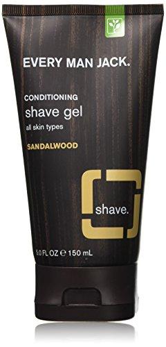 Every Man Jack Shave Gel, Sandalwood, 5 Fluid Ounce - Every Man Jack Shave Gel