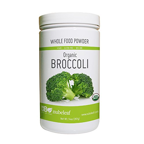 Nubeleaf Broccoli Powder – Non-GMO, Gluten-Free, Raw, Organic, Vegan Source of Essential Vitamins & Minerals – Single-Ingredient Nutrient Rich Superfood for Cooking, Baking, Smoothies (14oz) For Sale