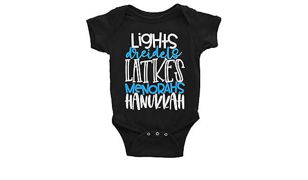 Arkansas Made Lights Dreidels Latkes Menorahs Hanukkah Chanukah Infant Bodysuit
