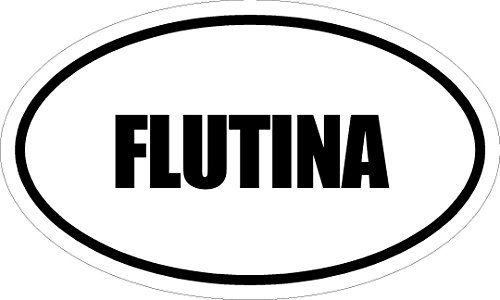 """Any and All Graphics FLUTINA 6"""" Magnet of Oval Euro for sale  Delivered anywhere in USA"""
