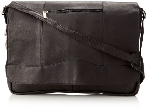 3/4 Flap Messenger Bag (David King & Co. 3/4 Flap Messenger, Black, One Size)