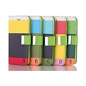 YXF Nappa Patch Pattern Wallet Leather Case for iPhone 6 (Assorted Colors) , A