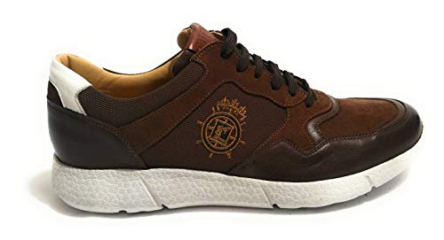 Torresi Pelle Sneaker Running Foulard Uomo tessuto Galizio Color Ugt022 Fondo In Noce 34jcAqR5L