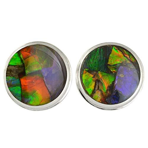 Starborn Sterling Silver Ammolite Post Earrings 12mm -