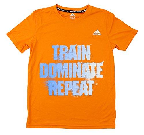 Clima Soccer Polo (Adidas Youth Big Boys Short Sleeve Climalite Train Dominate Repeat Tee (Medium (10/12),)