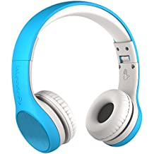 New! LilGadgets Connect+ STYLE Premium Volume Limited Wired Headphones with SharePort for Children / Kids (Blue)