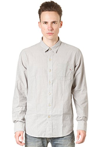 REPLAY Langarmhemd slim fit (grau/ecru)