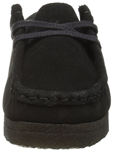 Clarks Dames Wallabee Laars Zwart Suede / Canvas 1
