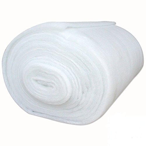 (Mybecca 36 Inch Wide (5 Yards) Quilt Batting Multipurpose Dacron Fiber Polyester Wadding Fabric 1/2