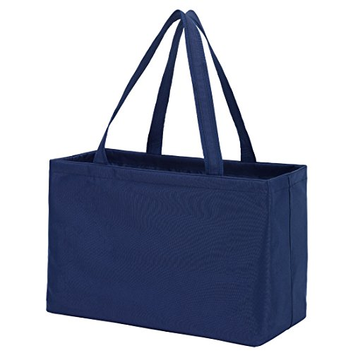 Solid Color Ultimate Tote - Carry All Organizer Bag - A Tailgate Must This Can Be Personalized or Monogrammed (Navy Blue)