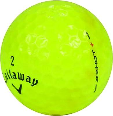 Callaway 12 X2 Hot Plus Yellow - Mint (AAAAA) Grade - Recycled (Used) Golf Balls