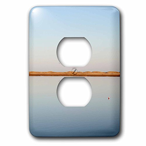 3dRose Danita Delimont - Cape Cod - View over tranquil waters towards dunes on Cape Cod, Massachusetts - Light Switch Covers - 2 plug outlet cover - On Outlets Cape Cod