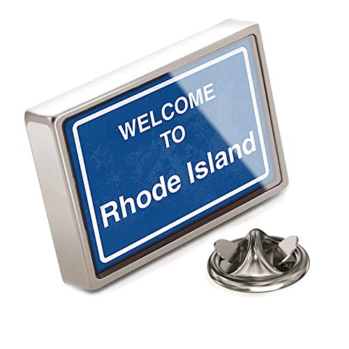 (NEONBLOND Lapel Pin Sign Welcome to Rhode Island)