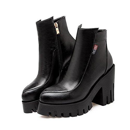 Botas de negro Stiefeletten Erogance para Plateau sintético talla 42 mujer color Velour cuero RIqwtnTw