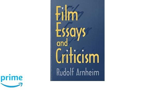 film essays and criticism wisconsin studies in film rudolf film essays and criticism wisconsin studies in film rudolf arnheim 9780299152642 com books