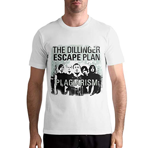 Ryan C Schmitt The Dillinger Escape Plan Soft Fit White T-Shirts for Men's Custom Short Sleeve Top Tees XL