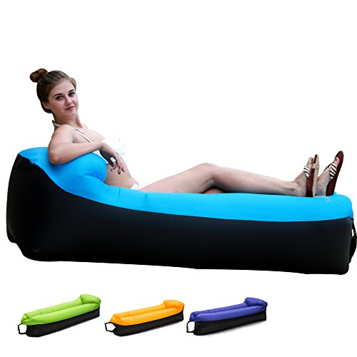 Inflatable Lounger Chair with portable carry bag for various uses