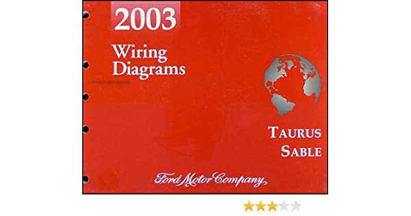 2003 Ford Taurus & Mercury Sable Wiring Diagrams Manual Original ... ford wire harness color code Amazon.com